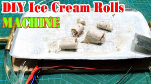 How to <b>make</b> a Ice Cream Rolls Machine - YouTube