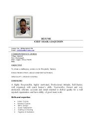 RESUME CHEF SHAIK LIAQUDDIN Contact No. : 00966-565621750 E-mail:  shaiklikuddin ...