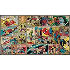 roommates jl1290m ultra strippable marvel classics comic panel mural 6 feet x 10 5 on marvel comic book wall mural with roommates jl1290m ultra strippable marvel classics comic panel mural