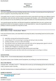 Club Security Officer Sample Resume Extraordinary Security Guard Resume Example Ideas Coll Design Inspiration Property
