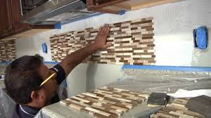How To Install Tile Backsplash Install Glass Tile Backsplash