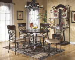 Ashley Furniture Kitchen Table Sets Ashley Furniture Alyssa 5 Piece Round Dining Set With Serve