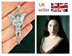 arwen evenstar necklace silver crystal