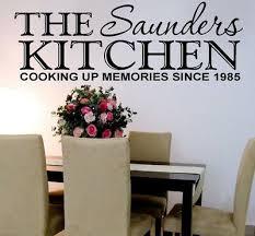 kitchen wall art sticker personalised