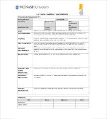 Work Instruction Template 6 Instruction Templates Doc Pdf Excel Free Premium