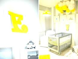 yellow and gray chevron wall decor grey white bathroom ideas decorating nursery strikingly design baby room