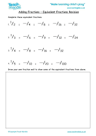 fractions equivalent fractions revision education adding fractions equivalent fractions revision worksheetworkscom solving multi step equations answers