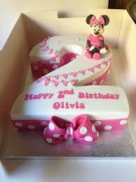 12 Girls 2nd Birthday Cupcakes Photo Minnie Mouse Birthday Cakes