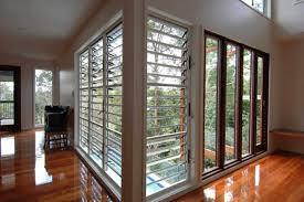jalousie windows in a home