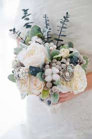 winter wedding bouquet idea custom winter wedding bouquet silk flower bouquet brooch bouquet