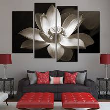 panel wall art lotus flower on lotus panel wall art with 5 panel graceful lotus flower painting canvas modern picture super