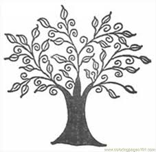 Small Picture line art drawings of trees free printable coloring page Swirly