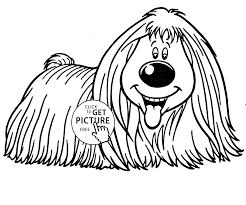 Dog Smiling Coloring Page For Kids