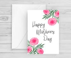 Fresh Pink Flowers Mothers Day Card