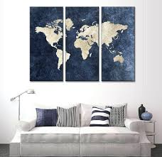 three panel wall art large 3 piece framed wall art 3 panel blue world map canvas three panel wall art