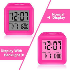 skynature digital soft cube snooze light alarm clock for students tap to expand