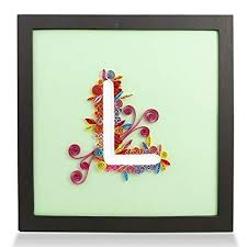 letter l handmade paper quilling artwork framed 3d wall art and stand art as unique on canadian artist wall art with amazon letter l handmade paper quilling artwork framed 3d wall