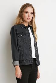 lyst forever 21 classic denim jacket in gray