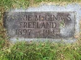 Fannie McGinnis Freeland (1896-1944) - Find A Grave Memorial