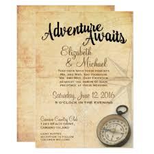 travel wedding invitations & announcements zazzle co uk Vintage Travel Wedding Invitations Uk vintage adventure travel wedding invitation Vintage Travel Background