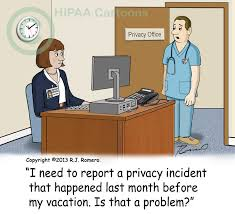 Report Privacy Incidents Quickly Hipaa Cartoons