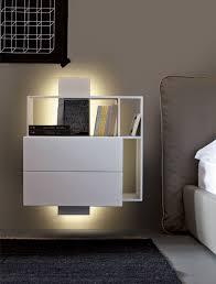 bedroom furniture  wall mounted table floating bedside table low