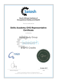 safety representitive occupational health and safety representative skills academy