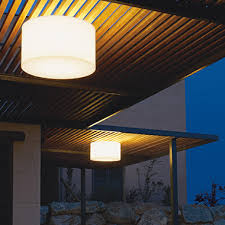 create a more pleasant atmosphere on your terrace or balcony with outdoor ceiling lights