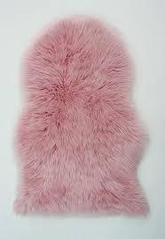 faux fur baby pink rug