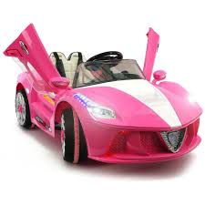 Kids ride on car electric power remote control wheels mp3 pink upgraded with a 6v 10ah battery & big motor. 2021 Kids Ride On Car With Remote Control Leather Seat Rubber Tires Pink Kids Ride On Mp3 Players Ferrari Spider