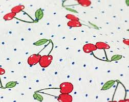 Small Picture Printed linen fabric Etsy