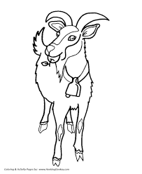 Small Picture Wild Animal Coloring Pages Herd of Goats Coloring Page and Kids