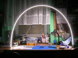 great idea for lighting a workbench led strip on a piece of formed aluminum
