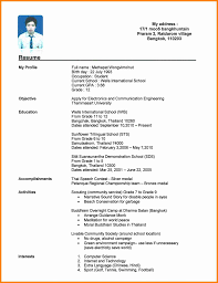 Resume Format For College Student Gulijobs Com