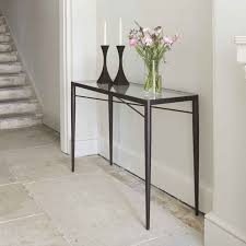console table metal and glass metropolitan console table gold metal and glass console table