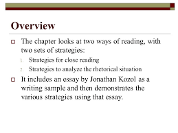 call to write third edition chapter two reading for academic overview iuml129macr the chapter looks at two ways of reading two sets of strategies