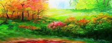 learn basic acrylic landscape painting tutorial with forest and autumn trees art lesson beginners