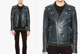 blk dnm leather jacket 5 in emerald blue