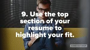 25 Tips To Make Your Resume Stand Out Youtube
