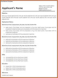 Free Fillable Resume Templates Blank Template 19