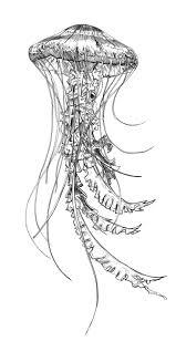 Jellyfish Josh Dominguez майка эскиз тату медуза татуировки кит