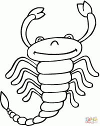 scorpion 13 coloring page free printable pages regarding on scorpian