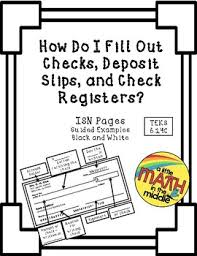 Check Register Isn Notes Teks 6.14C By A Little Math In The Middle