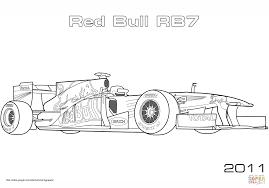 Red Bull Rb7 Formula 1 Raceauto Kleurplaat Gratis Cars 1 Coloring