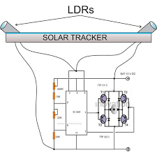 building an automatic dual axis solar tracker introduction and simple solar tracker circuit diagram image