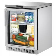 TUC-24G one glass door under counter prep table refrigerator