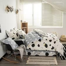 svetanya cotton bedlinen milk cow print bedding sets duvet cover set full queen king size for