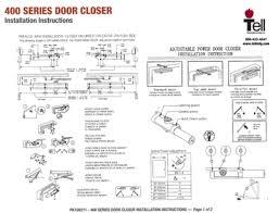 door closer installation. grade 1 door closers templates \u0026 installation instructions / commercial closer tell manufacturing