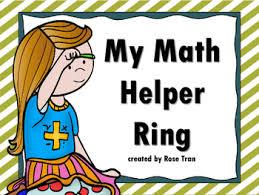 My Mini Anchor Chart New My Math Helper Ring Mini Anchor Chart Math Tool For 3rd 6th Grade