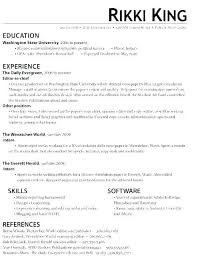 Intern Resume Example Avoid Placing Fluff In The Resume Including ...